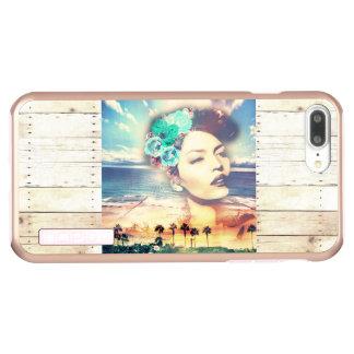 Rockabilly California Palms Coastal Summer Woman Incipio DualPro Shine iPhone 8 Plus/7 Plus Case