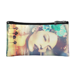 Rockabilly California Palms Coastal Summer Woman Makeup Bags