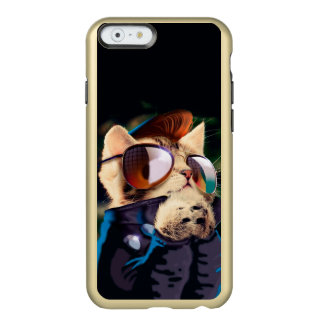 Rockabilly cat - biker cat - rocker cat - cute cat incipio feather® shine iPhone 6 case