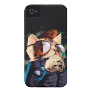 Rockabilly cat - biker cat - rocker cat - cute cat iPhone 4 Case-Mate case