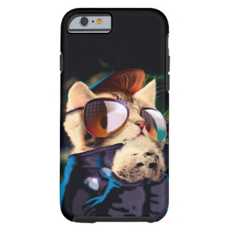 Rockabilly cat - biker cat - rocker cat - cute cat tough iPhone 6 case