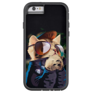 Rockabilly cat - biker cat - rocker cat - cute cat tough xtreme iPhone 6 case