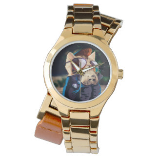 Rockabilly cat - biker cat - rocker cat - cute cat watch