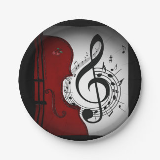 ROCKABILLY CELLO/VIOLIN MUSIC PARTY PLATE