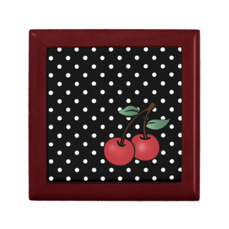 rockabilly cherrie classic design fro keepsake box