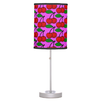 Rockabilly Cherry love Table Lamp