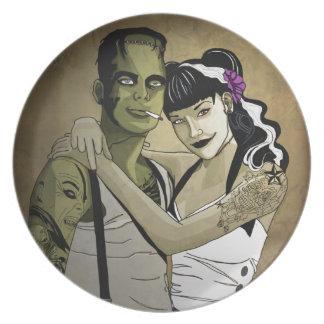 Rockabilly Couple Dinner Plate