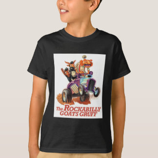 Rockabilly Goats Gruff - Hot Rod Troll T-Shirt