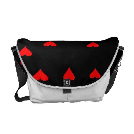 Rockabilly hearts bag courier bag