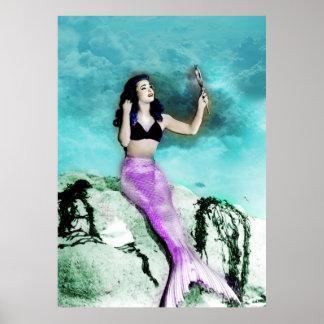 Rockabilly Mermaid Print