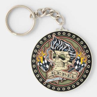 Rockabilly Rebel Keychain