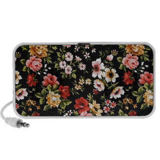 Rockabilly retro fifties floral daisies speaker
