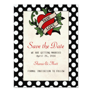 Rockabilly Save the Date Card