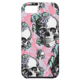 Rockabilly Skulls in Spring. iPhone 5 Covers