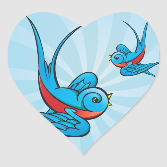 Rockabilly Tattoo Swallow Bird Stickers