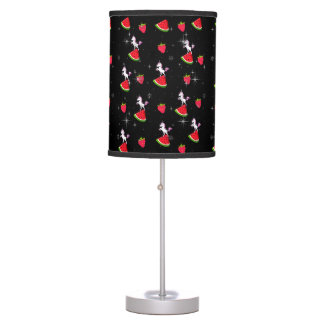 Rockabilly unicorns and stars table lamp
