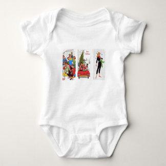 rockabilly vintage Christmas Baby Bodysuit