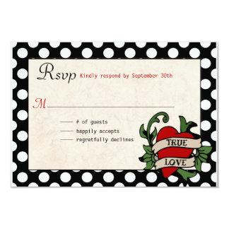 Rockabilly Wedding RSVP Card