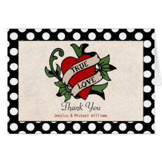 Rockabilly Wedding Thank You Card