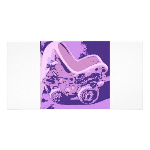 Rockabye Baby Buggy/Shower Gifts Customized Photo Card