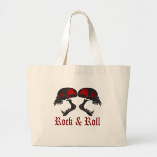 rockandroll1 large tote bag