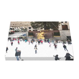 Rockefeller Center Ice Skating Rink Christmas NYC Canvas Print