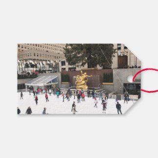 Rockefeller Center Ice Skating Rink NYC Photograph Gift Tags