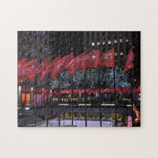 Rockefeller Center Ice Skating Rink NYC Photograph Jigsaw Puzzle