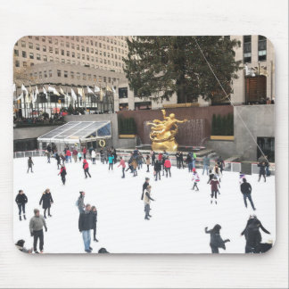 Rockefeller Center Ice Skating Rink NYC Photograph Mouse Pad