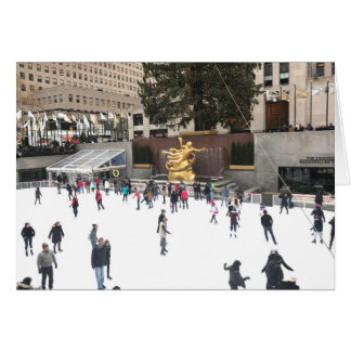 Rockefeller Center Merry Christmas Ice Rink NYC Card