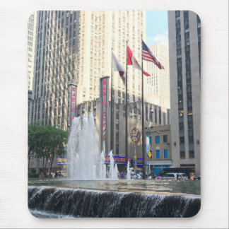 Rockefeller Center New York City Fountain Flags Mouse Pad
