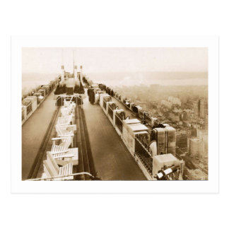 Rockefeller Center, Rooftop, New York City Vintage Postcard