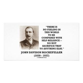 Rockefeller No Feeling Self-Reliance Sacrifice Photo Card Template