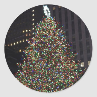 Rockefeller Tree Classic Round Sticker