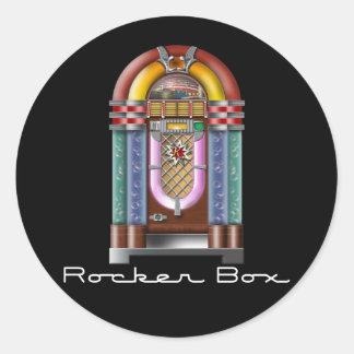 Rocker Box Jukebox Round Sticker