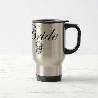 Rocker Bride Goth Skull 15 Oz Stainless Steel Travel Mug