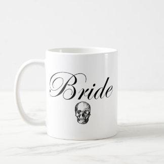 Rocker Bride Goth Skull Coffee Mug
