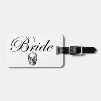Rocker Bride Goth Skull Luggage Tag