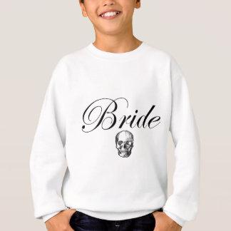 Rocker Bride Goth Skull Sweatshirt