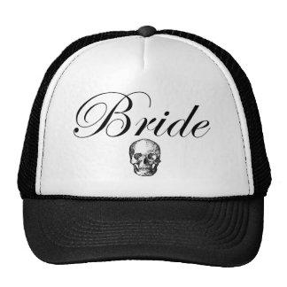 Rocker Bride Goth Skull Trucker Baseball Cap Hat