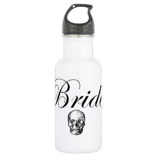 Rocker Bride Goth Skull Water Bottle