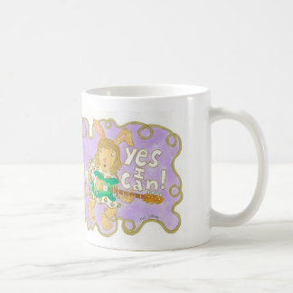 "rocker bunny says ""YES I CAN!"" Mugs"