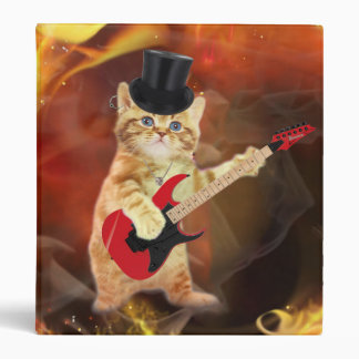 rocker cat in flames binder