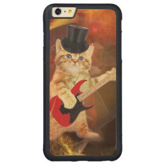 rocker cat in flames carved® maple iPhone 6 plus bumper case