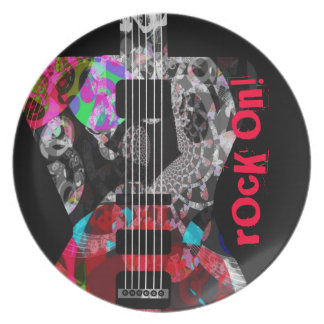 'Rocker Collection' one-of-a-kind guitar plate! Party Plate