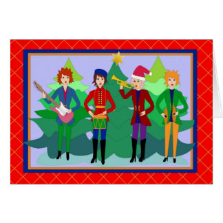 Rocker female toy soldiers greeting card