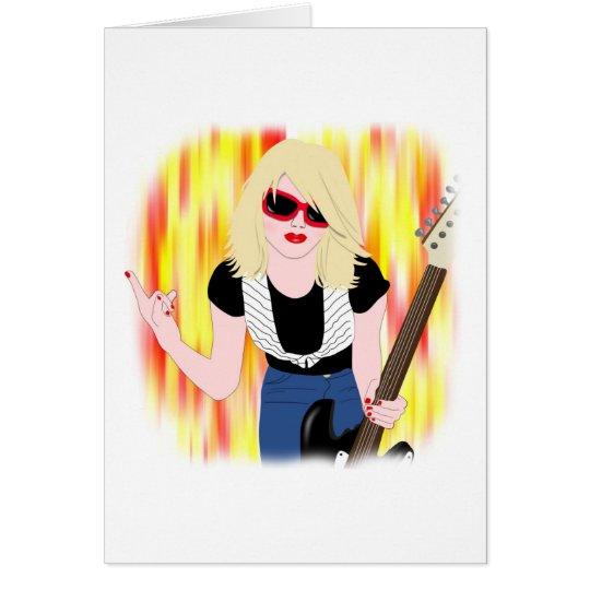 Rocker Girl Card