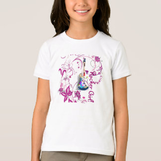 """rocker girl"" guitar shirt"