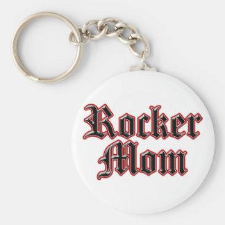 Rocker Mom! Basic Round Button Keychain
