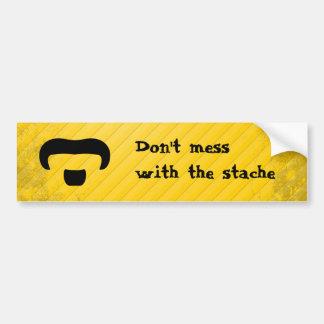 Rocker Mustache Bumper Sticker